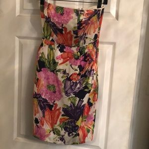 J.Crew – strapless silk floral dress with pockets